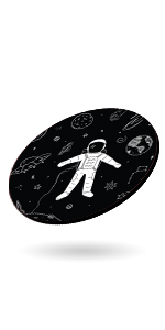 astronaut men on space moon mouse pad