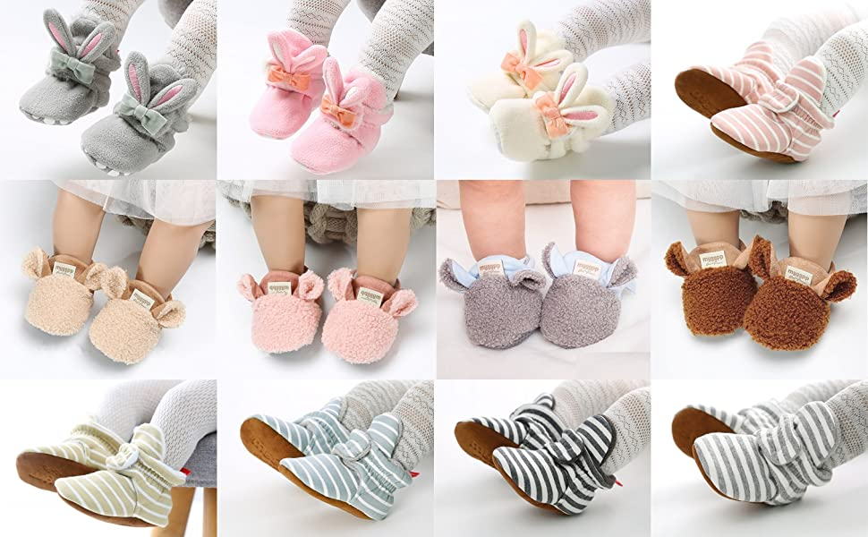 baby slippers infant girl shoes baby slippers 0-3 months baby house shoes baby booties baby fleece