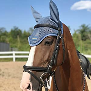 Horse Ear Bonnet-Blue