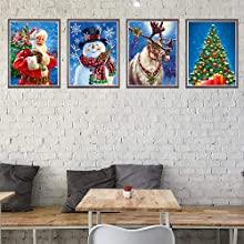 ginfonr diamond painting paint with diamonds arts snowman