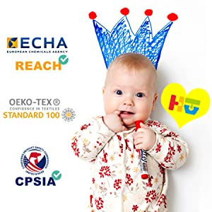 Baby safe Children safe CPSIA OEKO-TEX STANDARD 100 Certified
