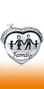 Heart-Shaped House Charms Home Sweet Home Charms fits Pandora Mothers Day Bracelets