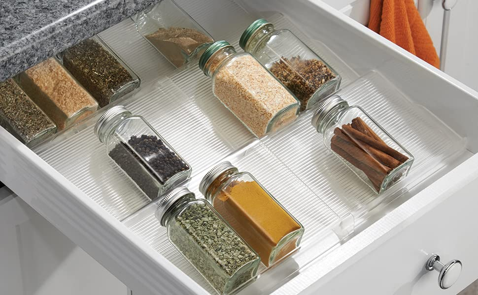 In Drawer Tiered Spice Rack