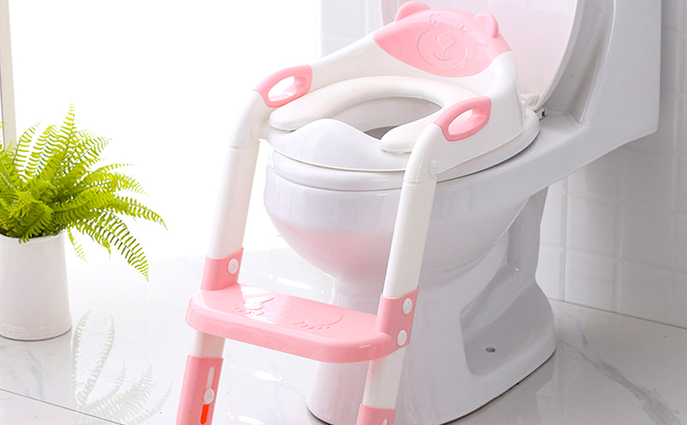 potty Toilet Seat Cover with step stool ladder