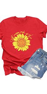 Women I Just Wanna Soak Up The Sun T Shirt Funny Sunflower Graphic Tee Causal Short Sleeve Tops