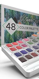 48 Watercolor Paint Palette