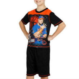 john cena wwe wwf wrestling boys pajamas pj fight pjs wrestler sleepwear