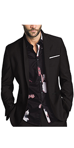 GAESHOW Men Causal Suit Jacket