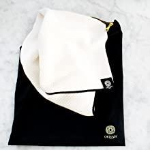 Travel towel organic bamboo soft face facial men mens gym hand towel