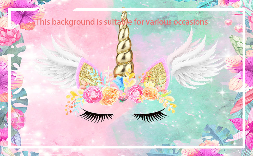 Welcome to the unicorn theme photo background