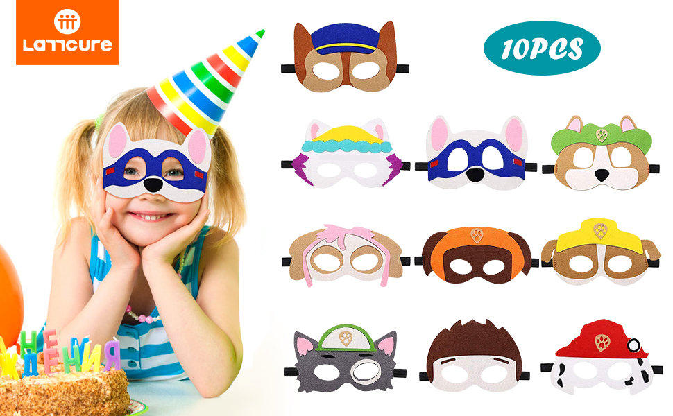 10pcs Animal Felt Masks
