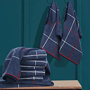blue hand towels