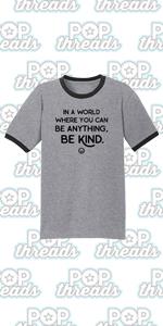 Be Kind Choose Kindness Teacher Cute No Bullies Graphic Tee Ringer T-Shirt
