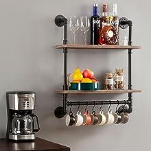 Kitchen wall shelf