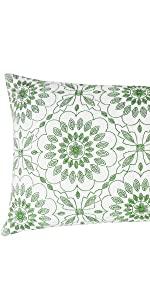 green lumbar pillowcases
