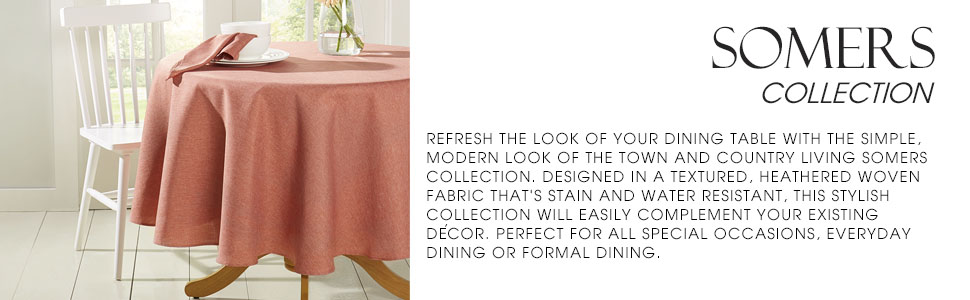 formal dinner party tablecloth, orange table cloth, rust tablecloth, round table cloth
