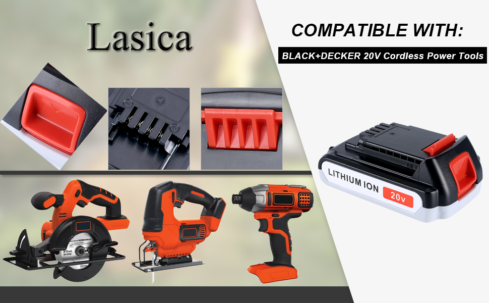 Fit Black and Decker 20v Power Tools