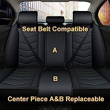 black with red leather car seat cover terrain sonata cx-5 sorento cherokee forte altima forester wrx