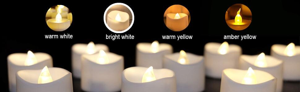 White Light Battery Operated Tea Lights