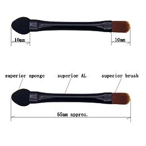 The size of eyeshadow brush