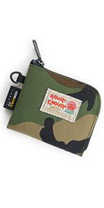 rough enough mini small zipper coin pouch credit card holder change purse for mens boys kids women