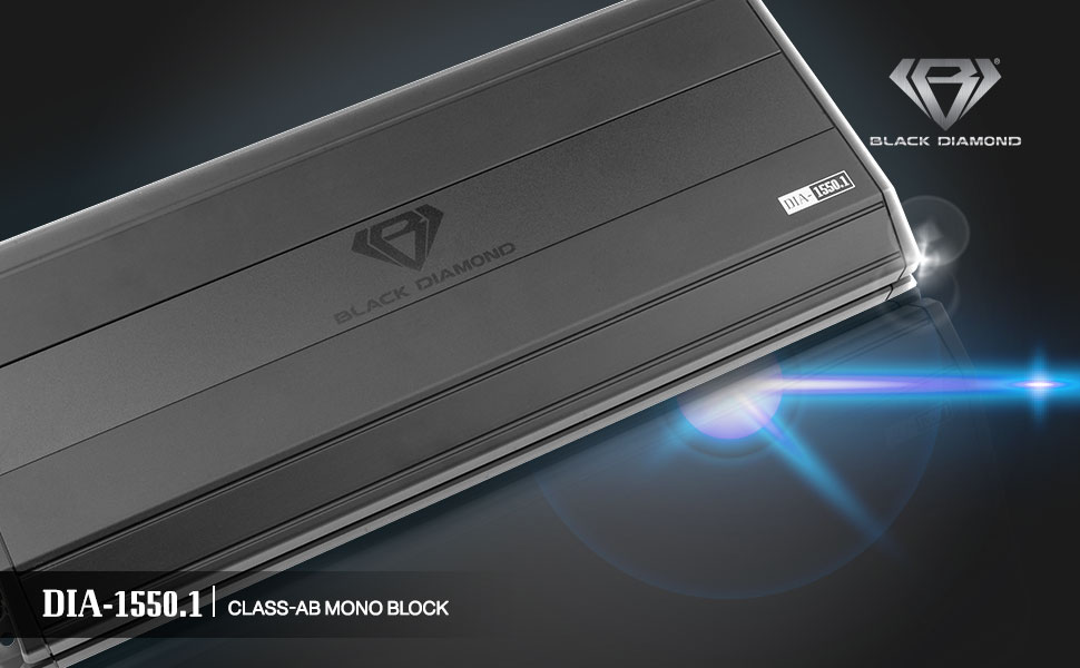 Monoblock car audio amplifier 1 channel high power