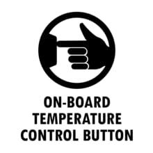 On-board temperature control button