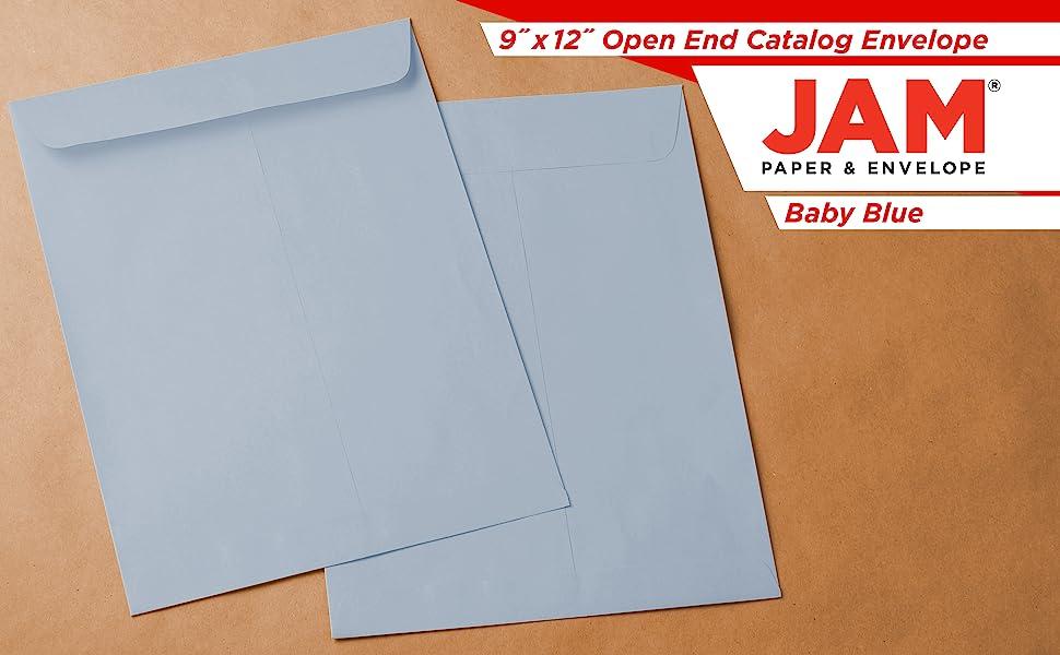 baby blue 9 x 12 open end envelope