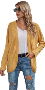 yellow cardigan shirts for leggings outwear pullover sweater shirts