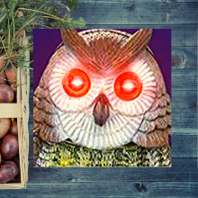 laser eyes solar light up fake owl eyes garden pest control predator repellent scarecrow statue