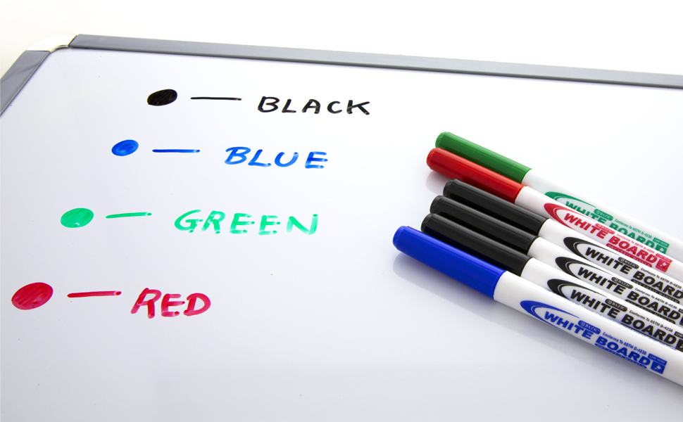 BAZIC Black Fine Tip Dry Erase Marker