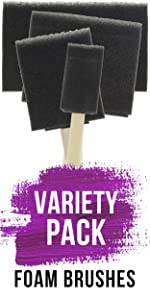 Variety Pack Foam Brushes