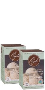 mint chocolate chip ice cream mix