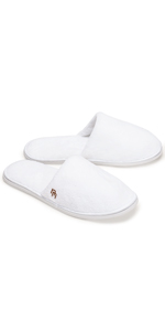 12-Pack Closed Toe Coral Fleece Slipper, White (Large)