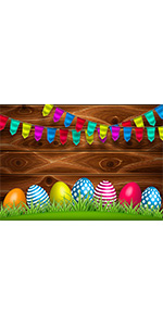 7x5FT Easter Photography Backdrop Rabbit Eggs Baby Shower Kids Studio Booth