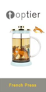 french press coffee maker tea maker mini glass pot large coffee press stainless steel ceramic