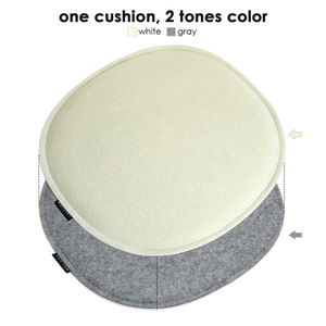 Felt Chair Pad seat Cushion for Eames DSW Plastic Chairs Pads Office Indoor Home Dining Kitchen