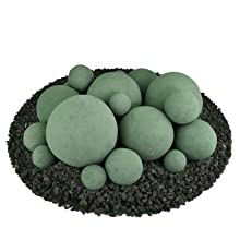 Ceramic Fire balls large big combo small and multiple 2 inch circular fire proof modern new unique