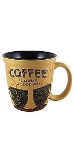 ceramic mugs, coffee, coffee lovers, coffee mug, sculpted mug, ceramic, mug