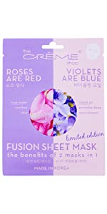 Rose Water and Violet Oil face sheet mask