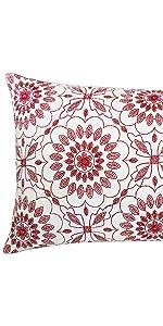 red lumbar pillow covers
