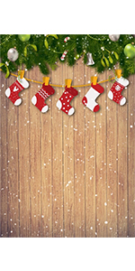 Christmas Wooden Board Background