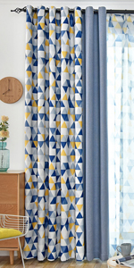 blue blackout curtains