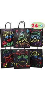 24 PCs Christmas Gift Bags