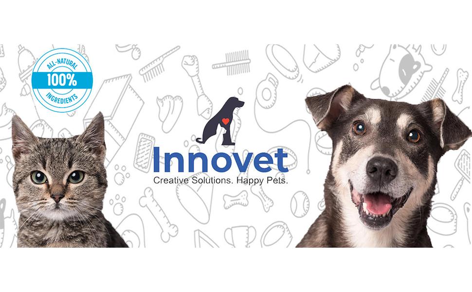 Innovet Pet dog shampoo for dry itchy skin natural dog and cat shampoo oatmeal and honey shampoo