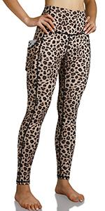 ODODOS high waist out pocket pattern yoga leggings
