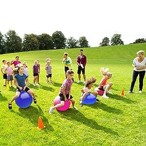 Hopper Balls Relay Race Outdoor Games For Kids Yard Games