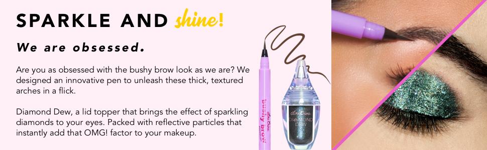 unicorn eyeshadow, eyeshadow glitter, iridescent glitter, sparkling eyeshadow, dew point