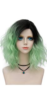 Dark Root Curly Wig