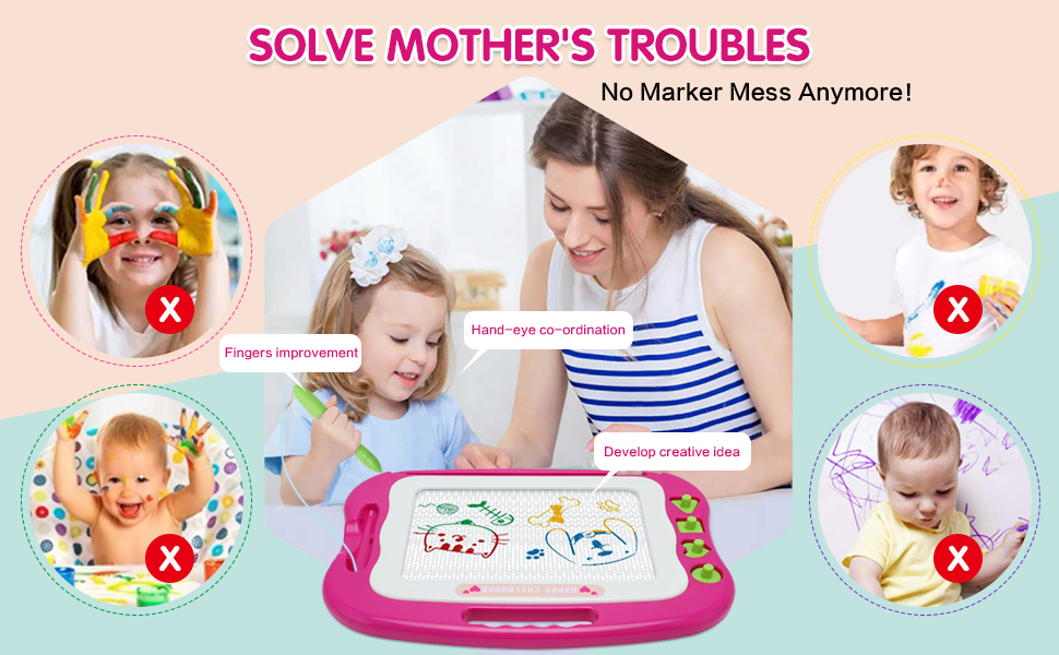 Magnetic Drawing Board Help Solve Mother's Troubles
